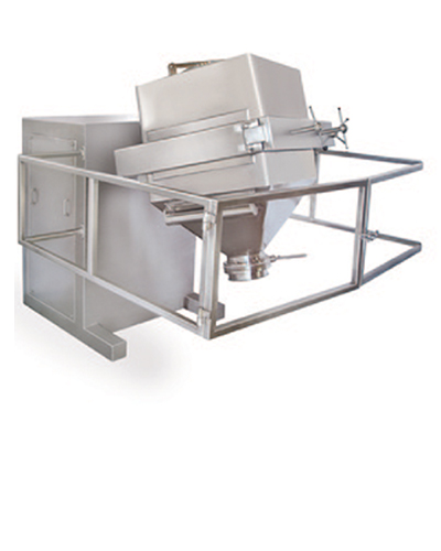 Laboratory scale bin blender and bins for pharmaceutical plant