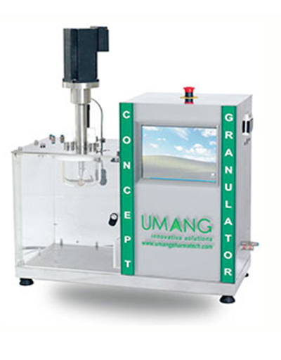 High shear granulator of conical mixing bowl